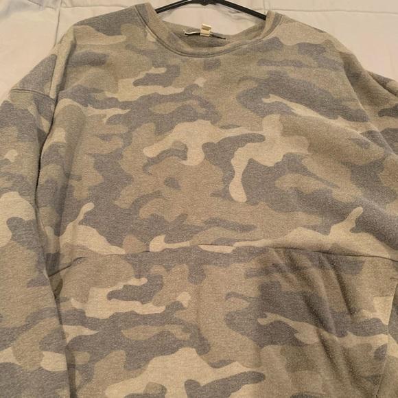 Express one eleven camo sweatshirt